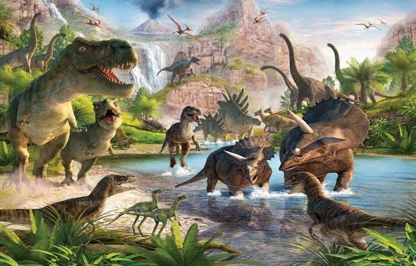 Foto behang Dinosaur Land 41745