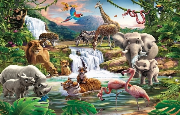 Foto behang Jungle Adventure 41776
