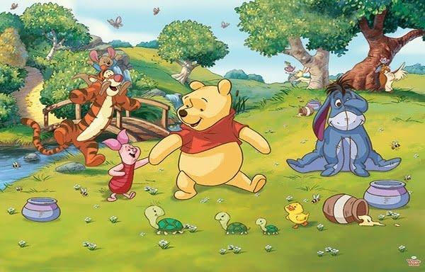 Foto behang Winnie the Pooh 42100