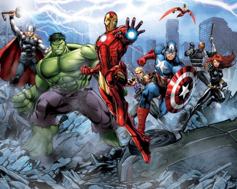 Foto behang Avengers Assemble 43848