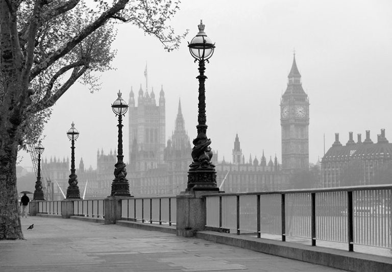 Foto behang London Fog 00142