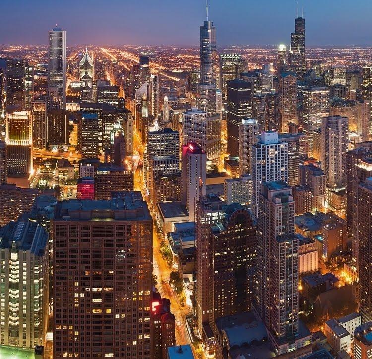 Foto behang Chicago CL44A
