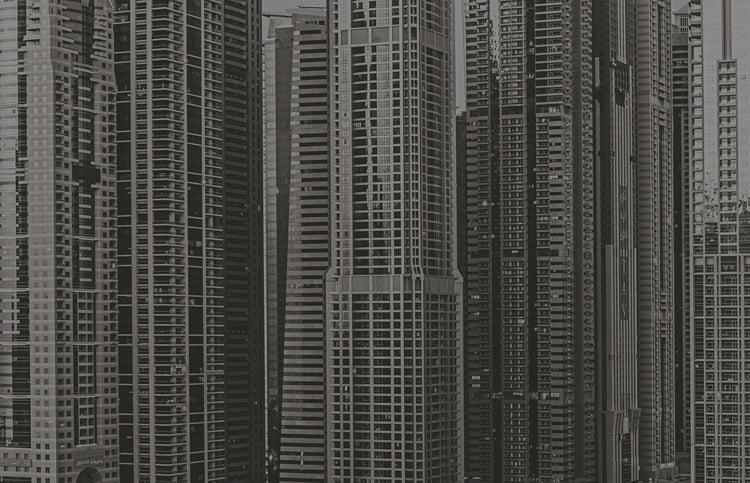 Foto behang Dubai Wolkenkrabber CL70A