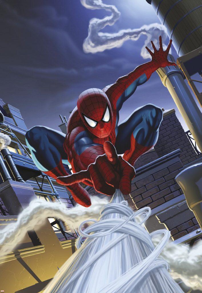 Foto behang Spiderman Rooftop 1-424