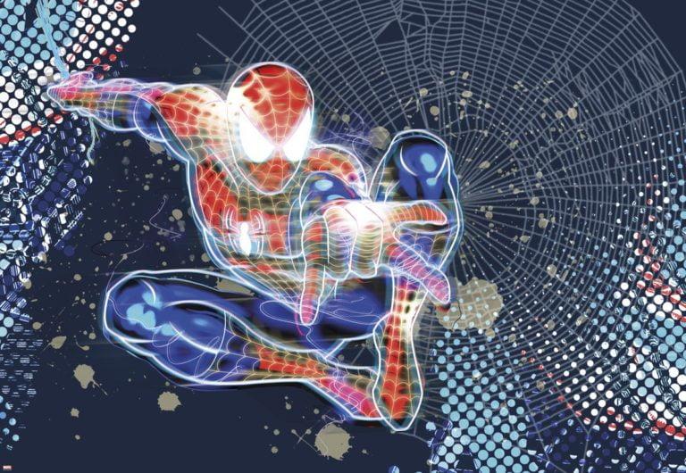 Foto behang Spiderman Neon 1-426