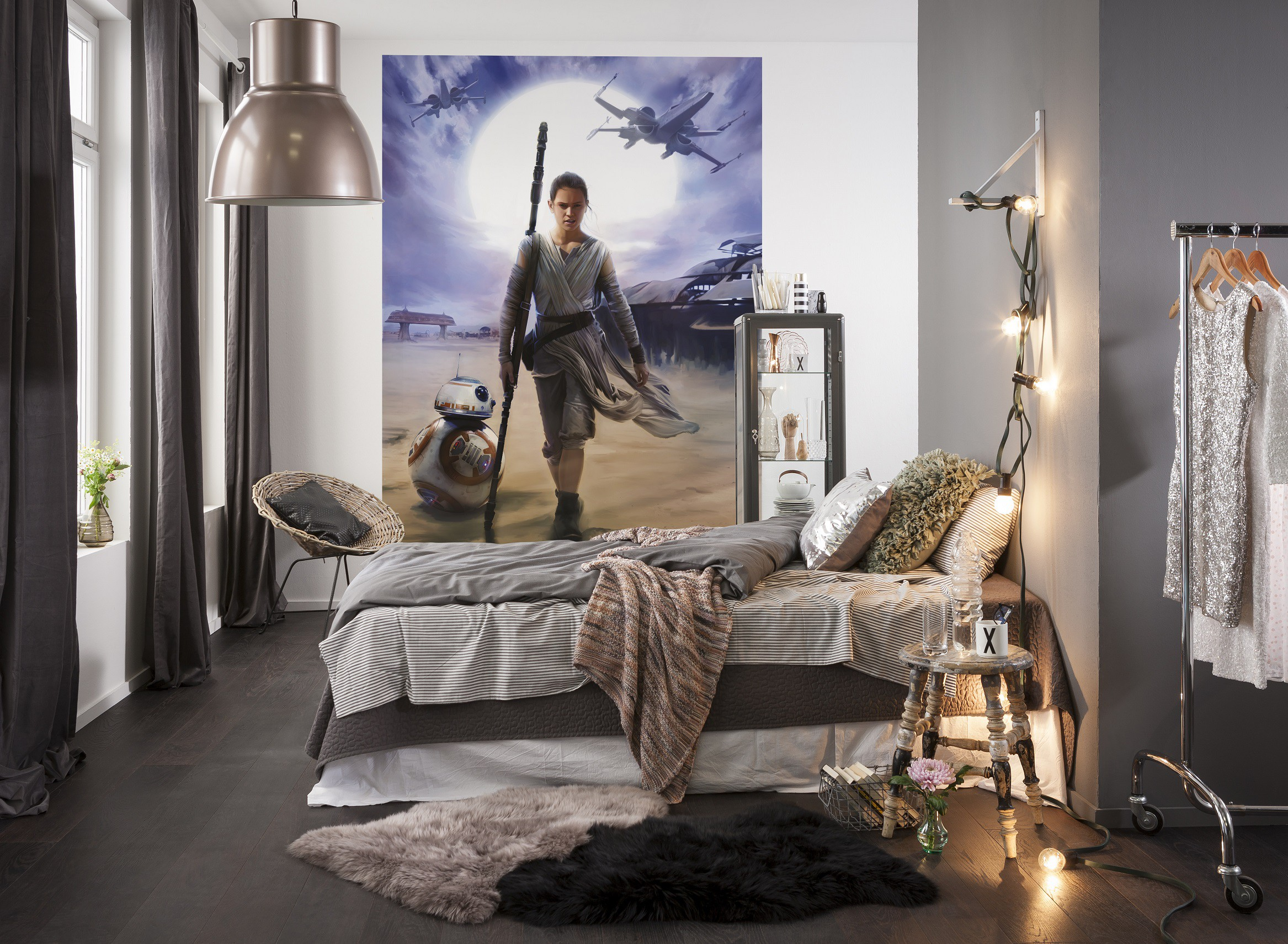 50a3e50116bc6d Foto behang Star Wars Rey 4-448. Add to Wishlist loading