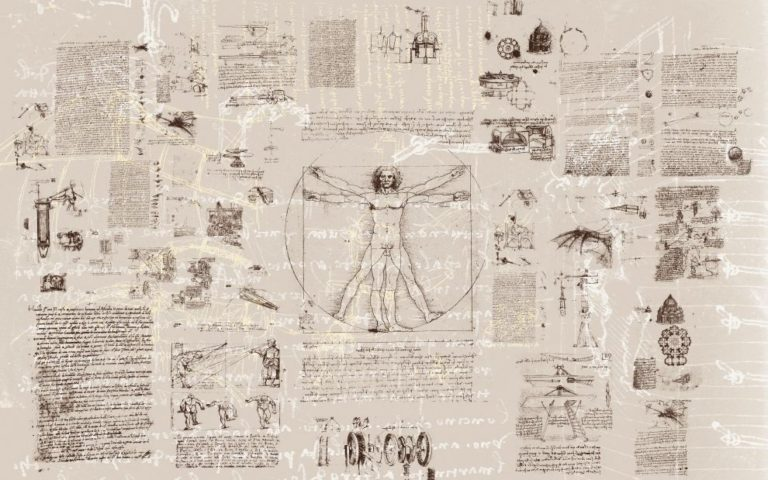 Foto behang Da Vinci  V8-764