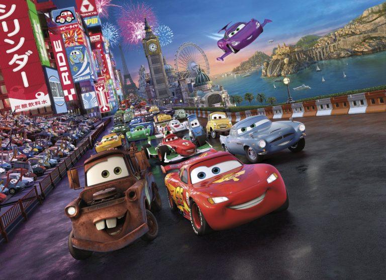 Foto behang Cars race 4-401
