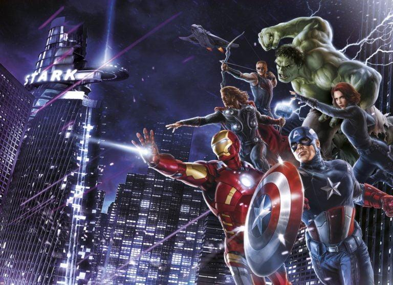 Foto behang Avengers Citynight 4-434