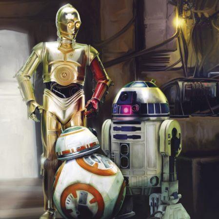 Foto behang Star Wars Three Droids