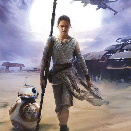 Foto behang Star Wars Rey 4-448