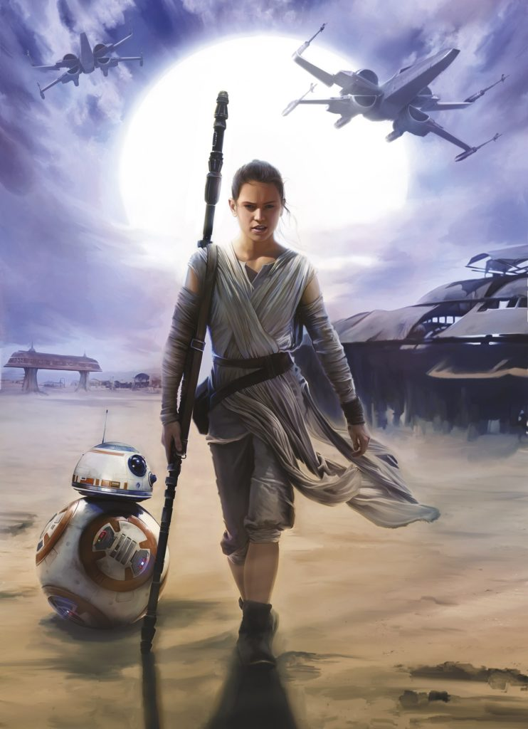 Foto behang Star Wars Rey 4-448