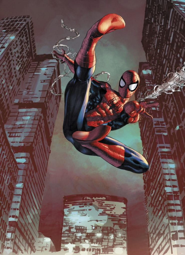Foto behang Spiderman Jump 4-459