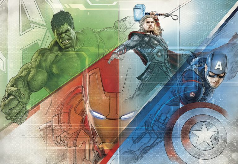 Foto behang Avengers Graphic Art 8-456