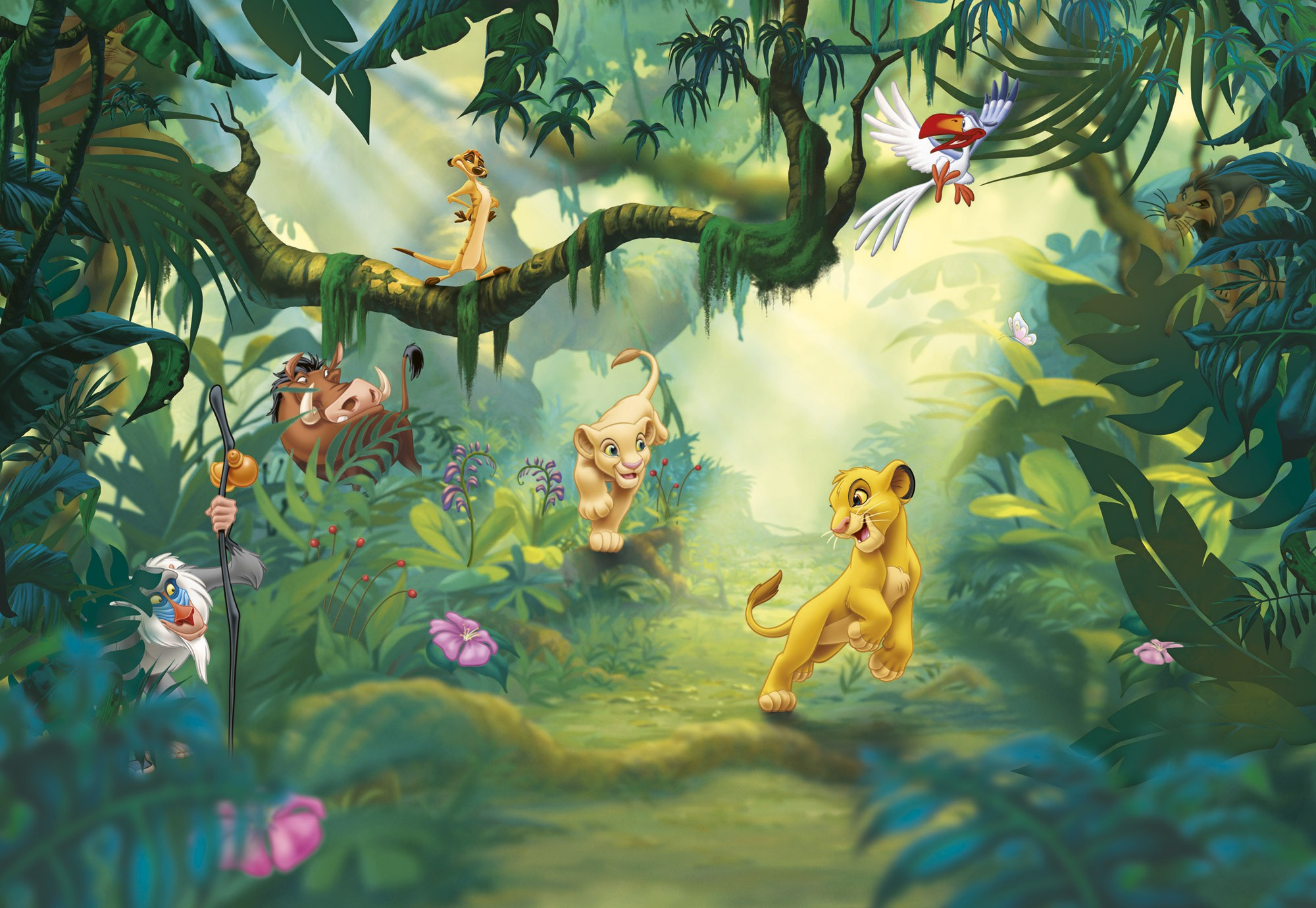 Behang Kinderkamer Jungle.Foto Behang Lion King Jungle 8 475