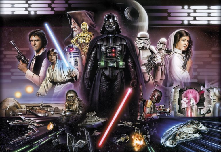Foto behang Star Wars Darth Vader Collage 8-482