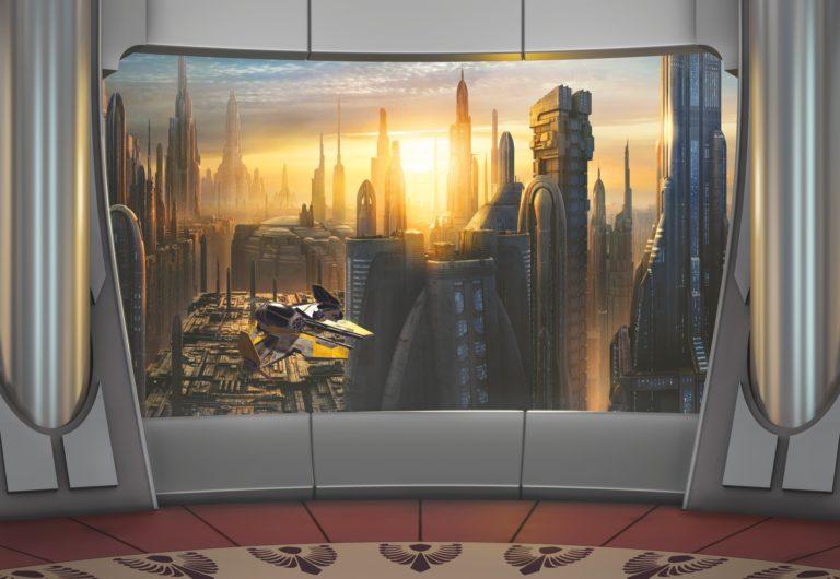 Foto behang Star Wars Coruscant View 8-483