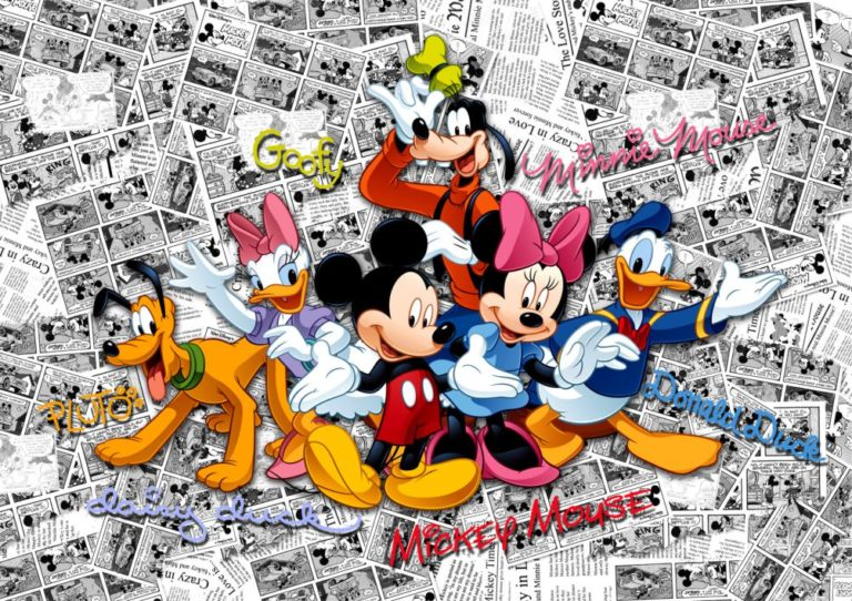 Foto behang Mickey on dark Comicks FTD2225