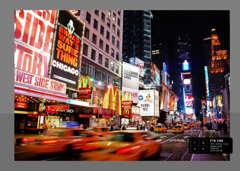 Foto behang Yellow Cabs at Times Square FTS1308