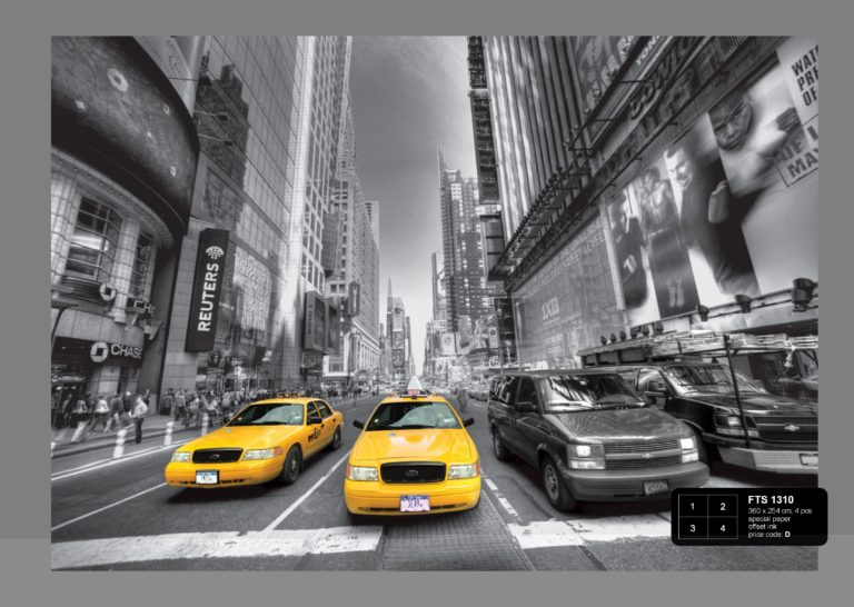 Foto behang Yellow Cabs FTS1310