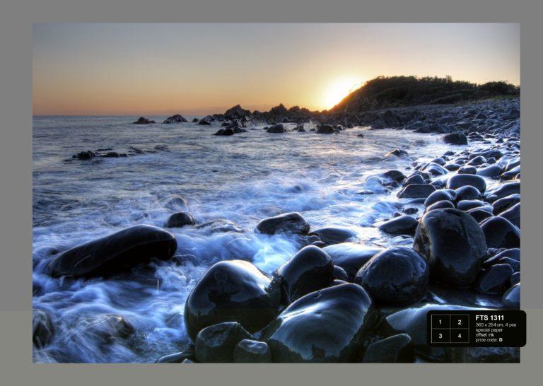 Foto behang Zonsondergang bij zee FTS1311