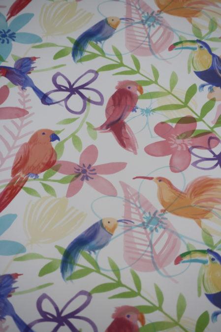 Vlies behang vogels kleur