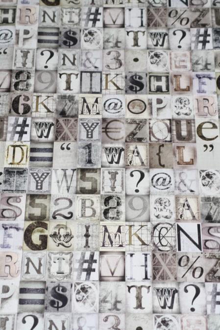 Papier behang W10MTYPO01 Noordwand