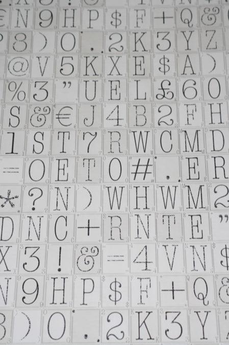 Papier behang W10MTYPO02 Noordwand
