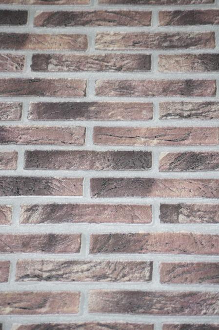 Vinyl op vlies behang 6451-06 baksteen