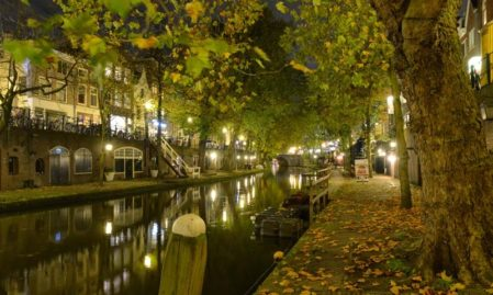 Foto behang Utrecht bij nacht Holland 1174