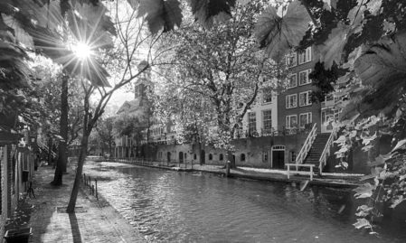Foto behang Oude gracht Utrecht Holland 1404