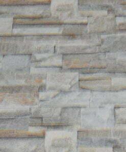 Vinyl op vlies behang steen grijs