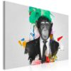 Schilderij - Mr Monkey-1