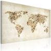 Schilderij - Beige tinten van de Wereld-1