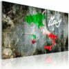 Schilderij - Artistieke kaart van Italië-1
