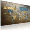 Schilderij - Kaart van de Wereld (Italiaanse taal)-1