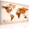 Schilderij - Map of the World - Desert storm-1