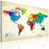 Schilderij - All colors of the World-1