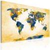 Schilderij - Four corners of the World-1