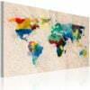 Schilderij - De wereld van kleuren-1