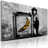 Schilderij - Inspired by Banksy - black and white-1