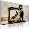 Schilderij - Inspired by Banksy - sepia-1
