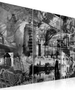 Schilderij - De essentie van Londen - triptiek-1