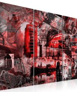 Schilderij - Red Londen-1