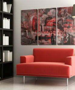 Schilderij - Red Londen-2