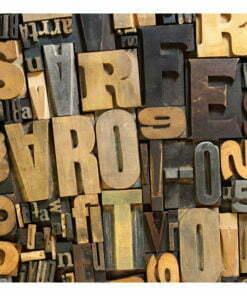 Fotobehang - Houten letters-2
