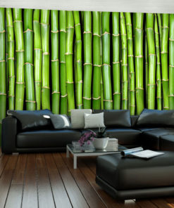 Fotobehang - Bamboe muur-1