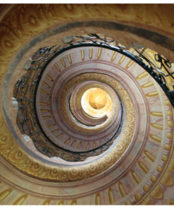 Fotobehang - Decorative spiral stairs-2
