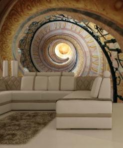 Fotobehang - Decorative spiral stairs-1