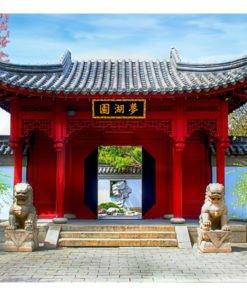 Fotobehang - Chinese botanical garden of Montreal (Quebec Canada)-2